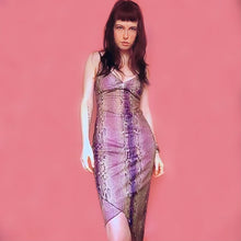 Load image into Gallery viewer, 90s VINTAGE SNAKE DRESS