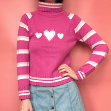 Load image into Gallery viewer, Y2K HEART SWEATER