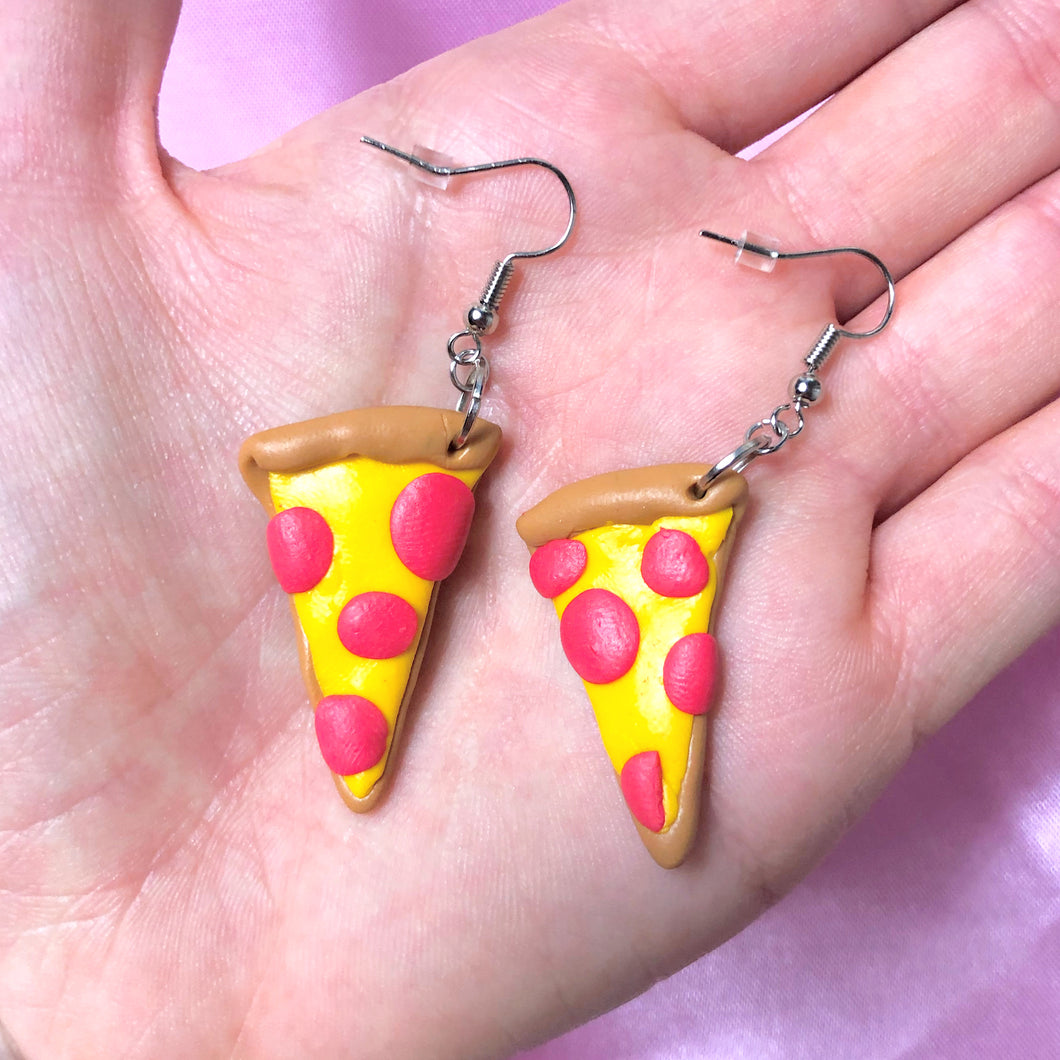 Polymer Clay Pizza Earrings