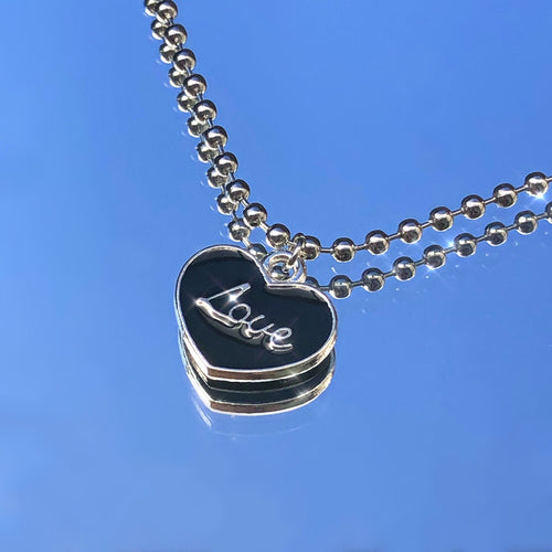 LOVE HEART BALL CHAIN NECKLACE
