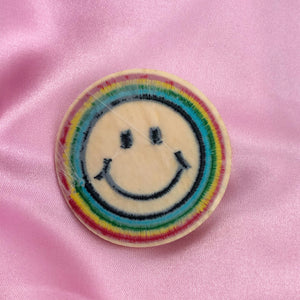 RAINBOW SMILEY Iron On Patch