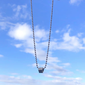 Silver Dice Ball Chain Necklace