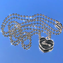 Load image into Gallery viewer, LOVE HEART BALL CHAIN NECKLACE