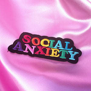 SOCIAL ANXIETY Iron On Patch