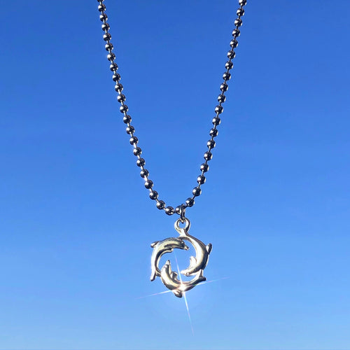 Dolphin Ball Chain Necklace