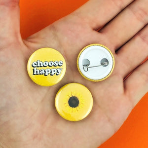 HAPPINESS Pinback Buttons