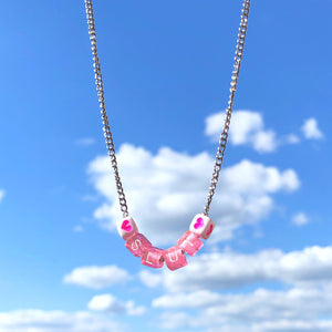 SLUT Heart Letter Necklace