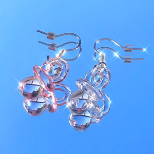 Pink/Blue Pacifier Earrings