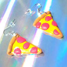 Load image into Gallery viewer, Polymer Clay Pizza Earrings