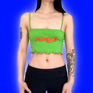 ANGEL Lettuce Trim Crop Top