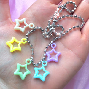 BALL CHAIN STAR NECKLACE