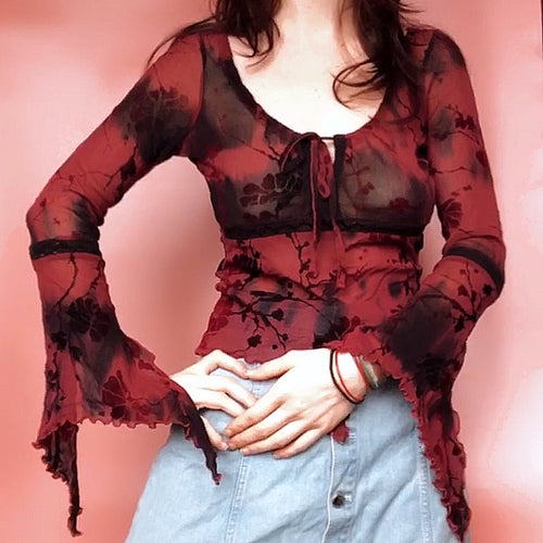 ROMANTIC 90s VINTAGE GOTHIC TOP