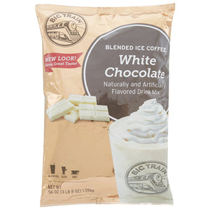 Big Train 3.5 lb. White Chocolate Blended Ice Coffee Mix - (Case of 5)