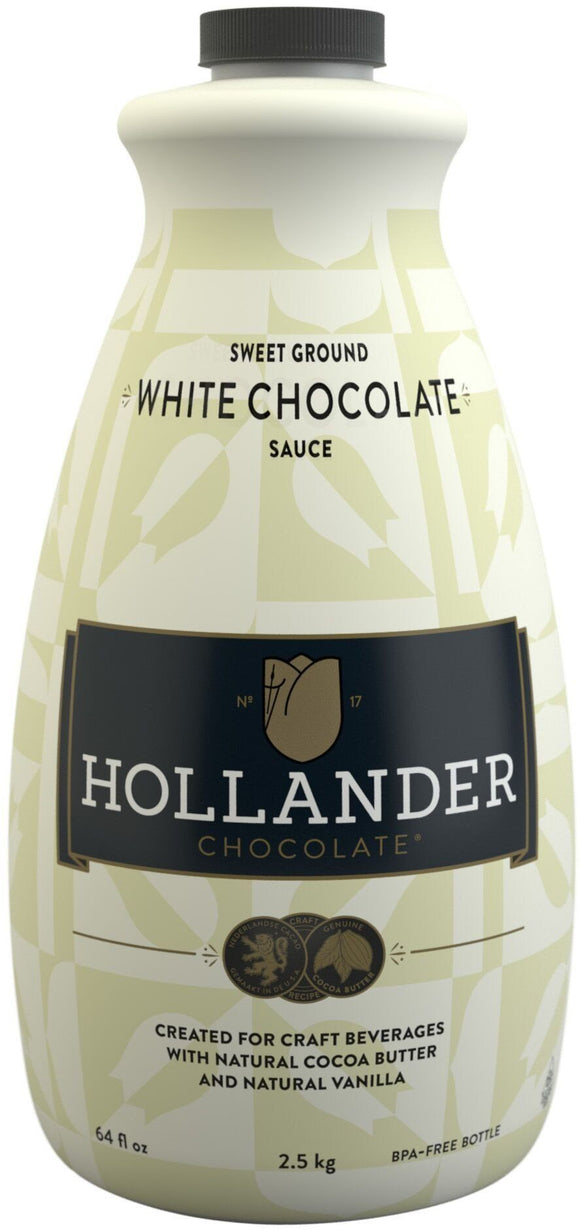 HOLLANDER CHOCOLATE - SWEET GROUND WHITE CHOCOLATE SAUCE (Box of 6)