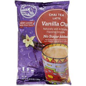 Big Train 3.5 lb. No Sugar Added Vanilla Chai Tea Latte Mix - (Case of 4)