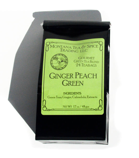 Ginger Peach Green - 24pk - Montana Tea & Spice