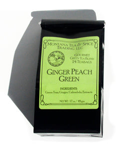 Ginger Peach Green - 50pk - Montana Tea & Spice