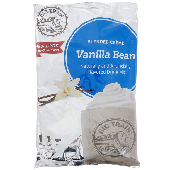 Big Train 3.5 lb. Vanilla Bean Blended Creme Frappe Mix - (Case of 5)