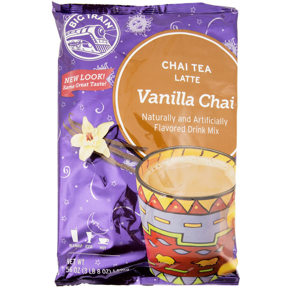 Big Train 3.5 lb. Vanilla Chai Tea Latte Mix - (Case of 4)