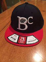 BC SQUARE LOGO CAP - BLUE/RED