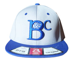 BC SQUARE LOGO CAP - BLUE/GREY
