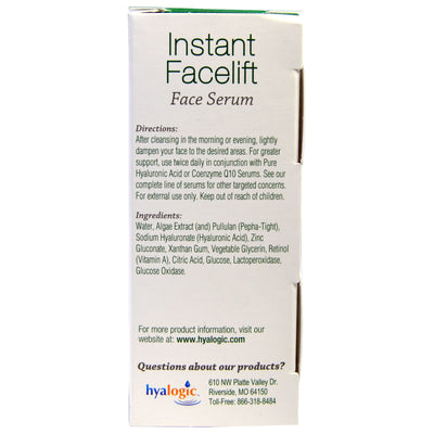Hyalogic Episilk Instant Facelift Serum - 1 Ounce