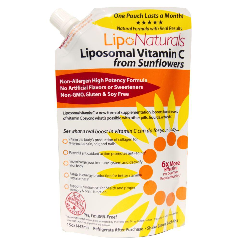 Lipo Naturals Liposomal 1,000mg Vitamin C from Sunflowers - 15 Ounces/30 Doses