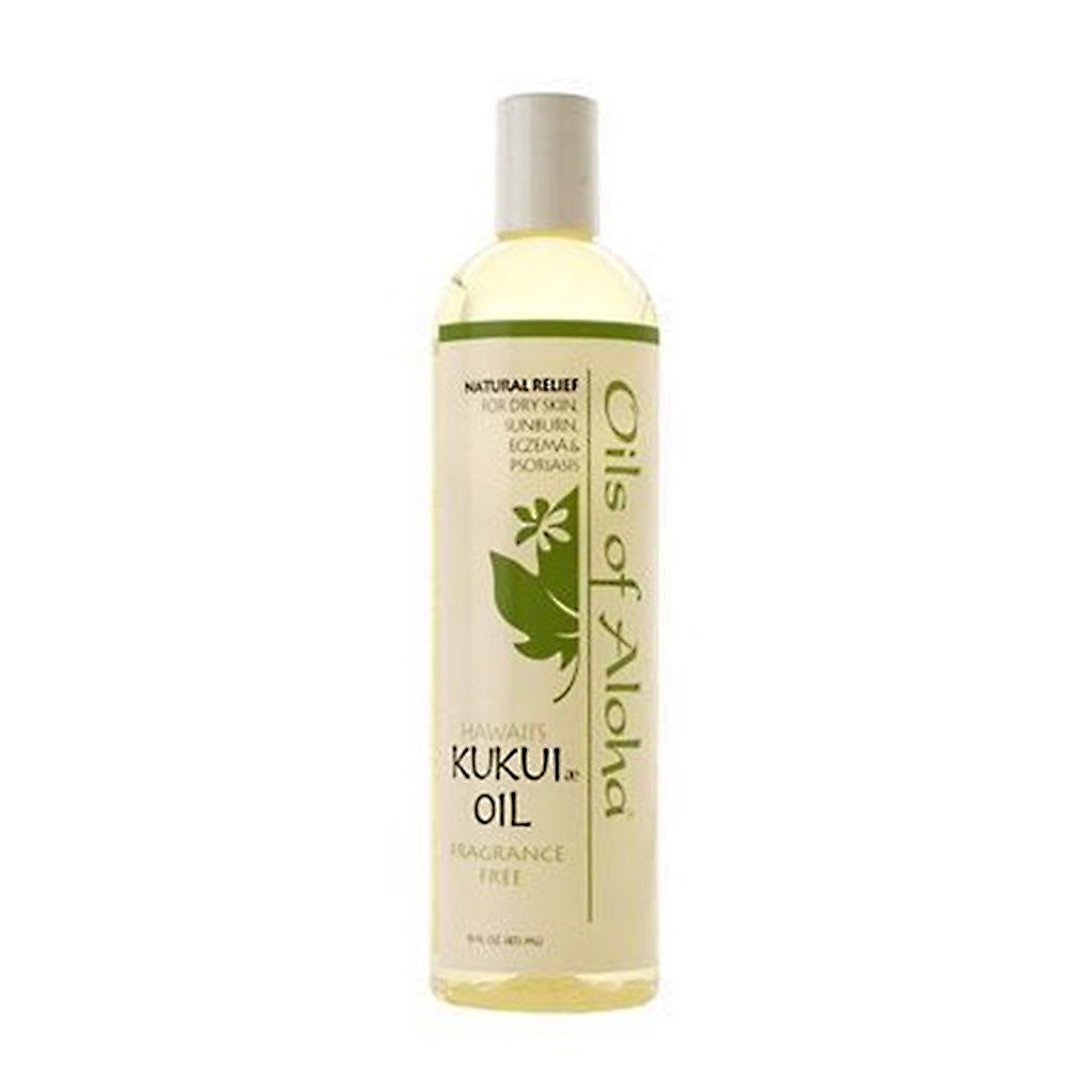 Oils of Aloha Hawaiian Fragrance-Free Kukui Nut Oil - 16 Ounces