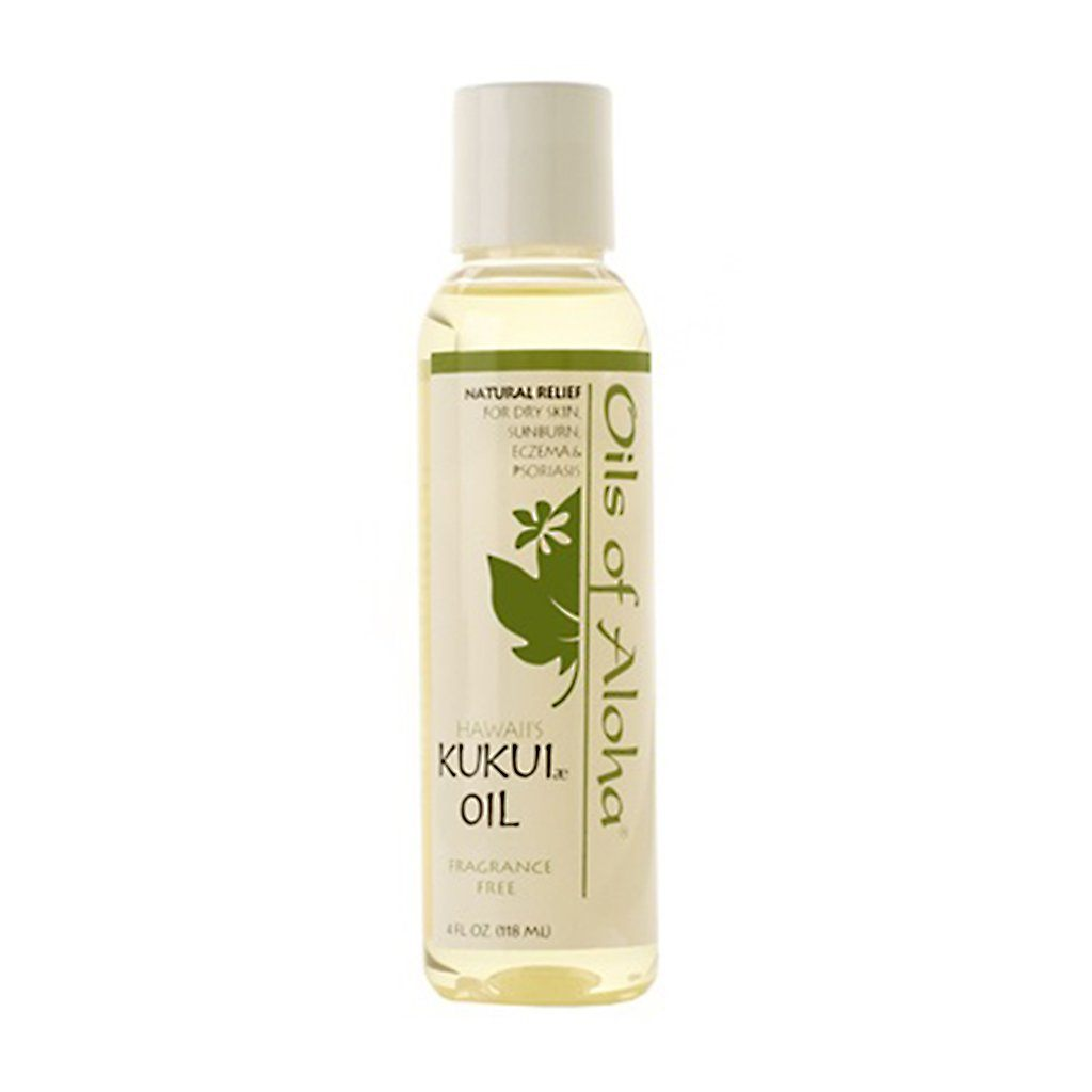 Oils of Aloha Hawaiian Kukui Nut Oil (Fragrance Free) - 4 Ounces