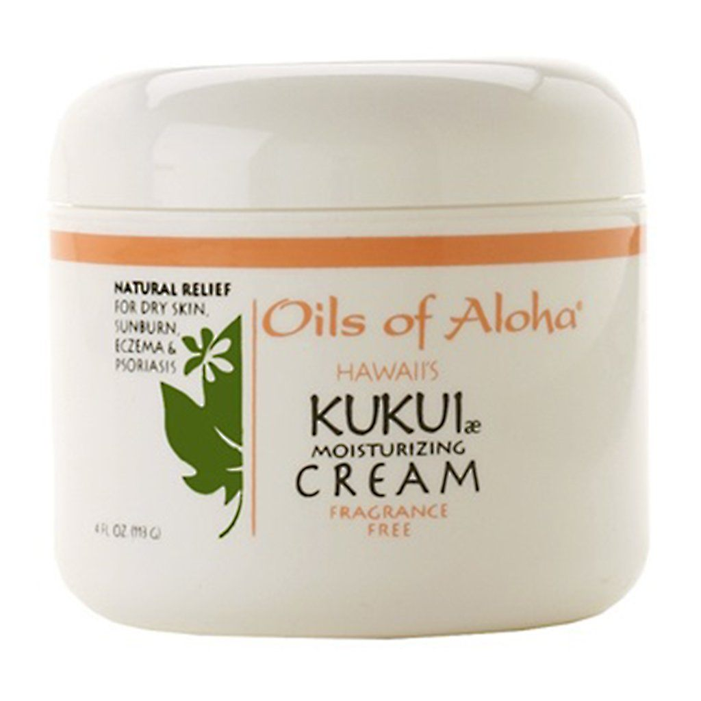 Oils of Aloha Kukui Moisturizing Cream (Fragrance Free) - 4 Ounce Jar
