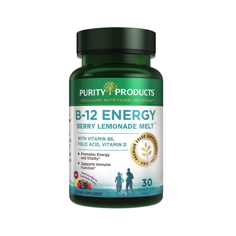 Purity Products B-12 Energy Berry Lemonade Melt - 30 Dissolving Tablets