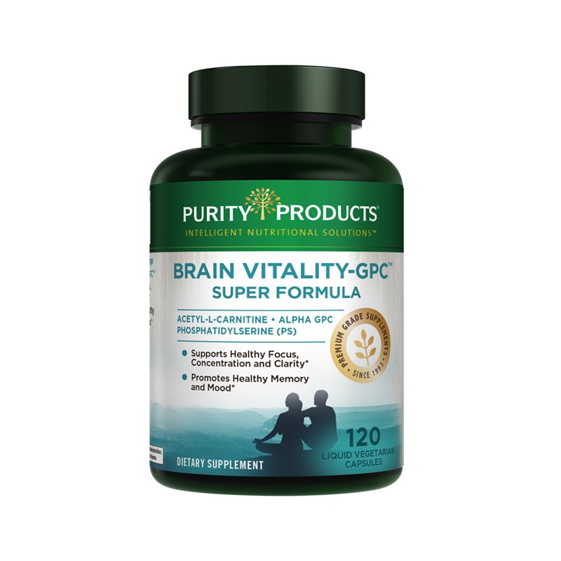 Purity Products Brain Vitality-GPC Super Formula - 120 Liquid Vegetarian Capsules