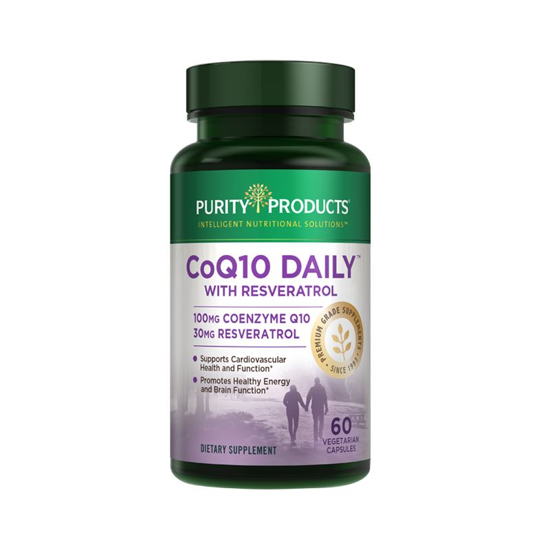Purity Products CoQ10 Daily with Resveratrol - 60 Vegetarian Capsules