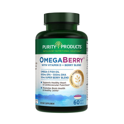 Purity Products OmegaBerry with Vitamin D + Berry Blend - 60 Softgels Health & Beauty Purity Products