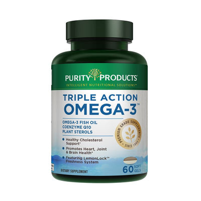 Purity Products Triple Action Omega 3 - 60 Soft Gels Health & Beauty Purity Products