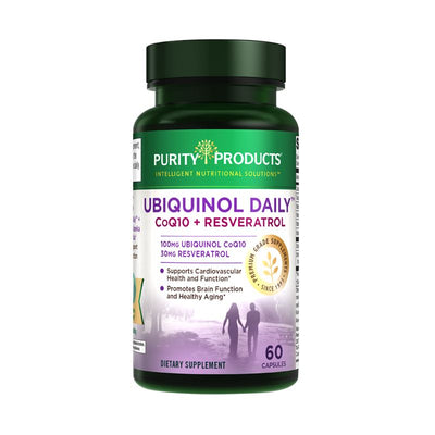 Purity Products Ubiquinol Daily CoQ10 + Resveratrol - 60 Capsules Health & Beauty Purity Products