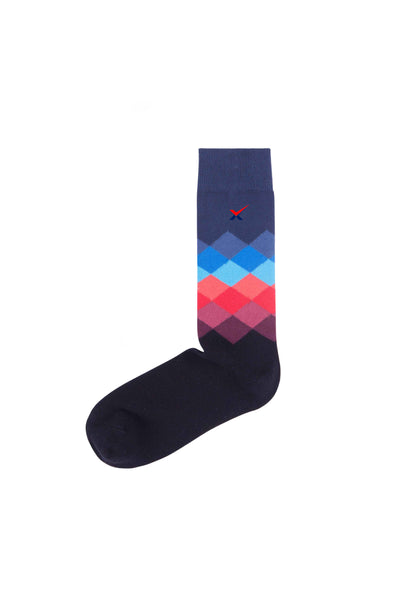 EXCLUSIVE STRIPS CALF SOCK FOR WALKABOUT AND SNEAKERS