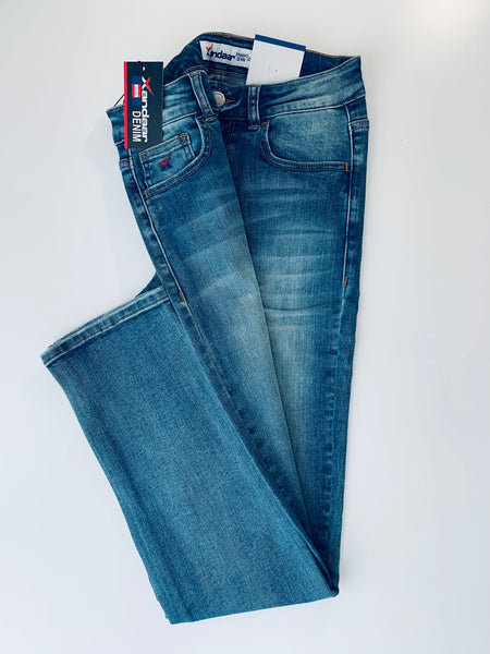 Exclusive Kate High–Rise Straight Fit Denim Jeans