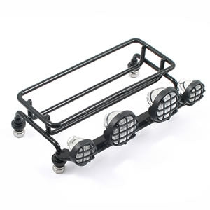 Crawler Luggage Tray With Light Cluster (Small Cab) in metallo