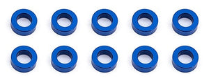 Bulkhead Washers, 7.8x0.5 mm, blue aluminum