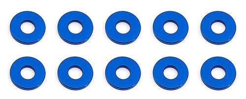 Bulkhead Washers, 7.8x1.0 mm, blue aluminum
