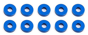 Bulkhead Washers, 7.8x2.0 mm, blue aluminum