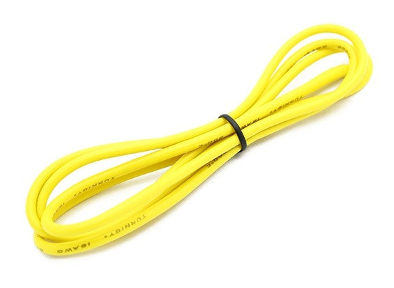 Turnigy High Quality 16AWG Silicone Wire 1m (Yellow)