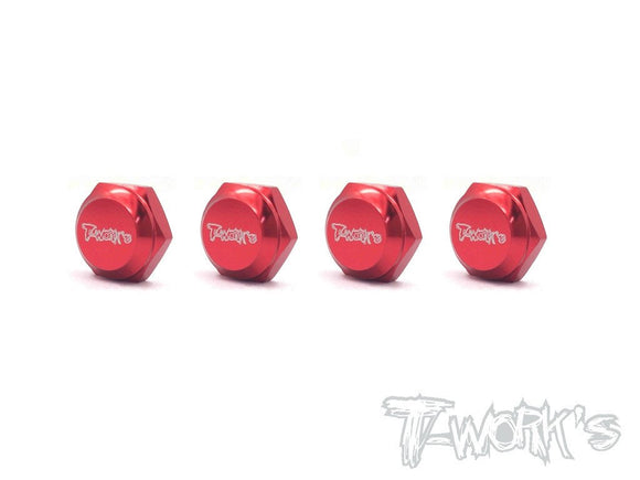 Self-Locking Wheel Nut With Cover P1-Red