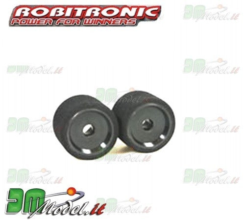 RA2065  Rear black wheel complete, white dot supersoft (2pcs)