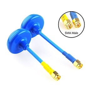 2pcs Blue Wizard FPV Clover Antenna 5.8G 3 Leaves TX 4 Leaves RX RHCP SMA Male for FPV