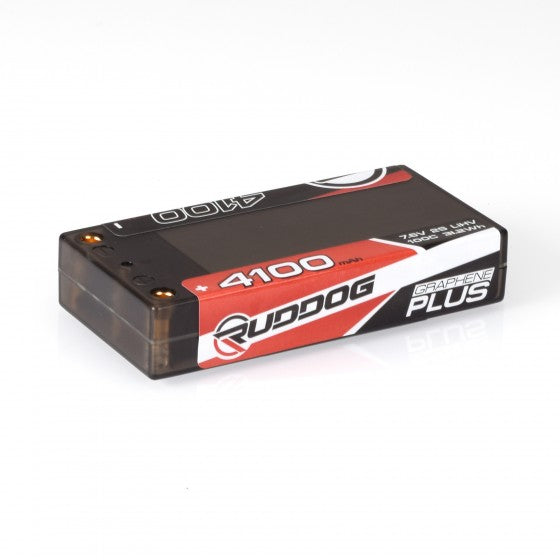 RUDDOG 4100mAh 7.6V 100C Graphene Plus LCG Shorty Stick Pack LiHV