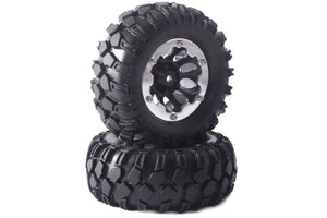 "FAST0062B Kong 96mm Crawler Tyres on 1.9"" Bead Protector Wheels (2) - Black"