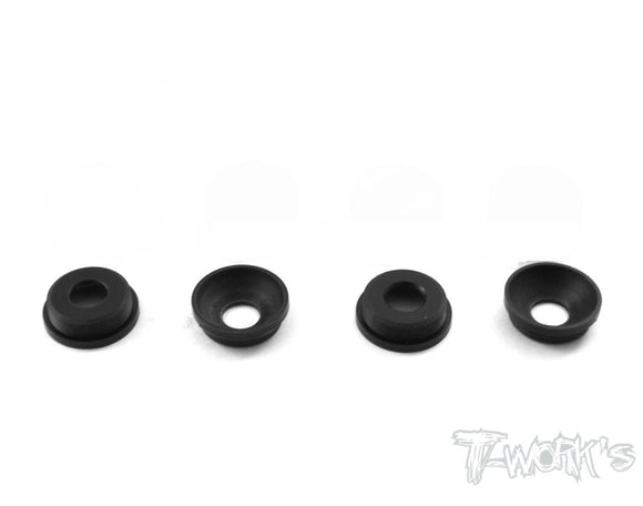 POM Front Upright Adjust Nut Spacers 4pcs. ( For Mugen MBX-6/MBX-7/SworkZ)