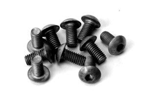 Alloy Button Head Hex Screws M3 x 8 pk10